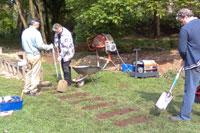 Bautage 2009: Fertigstellung der Drehscheibe