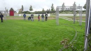 Dampfbahn Leverkusen: Aufbau der mobilen Anlage (Zeitraffer) (HD) (03:50)